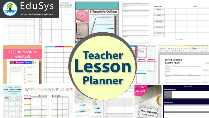 image relating to Printable Teacher Planner known as Instructor lesson planner down load no cost (2019) 10+ pattern