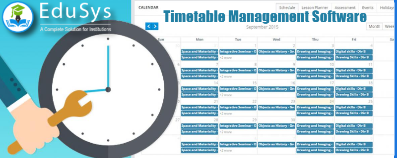 Type of Timetable - Ideal for School, Preschool & College