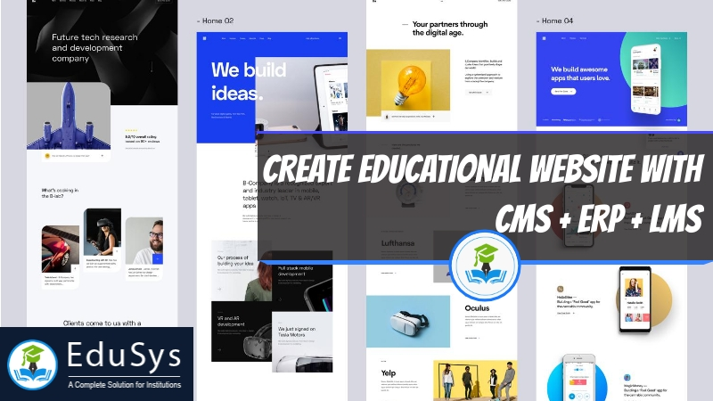 How to Create Educational Website with CMS + ERP + LMS (2019)