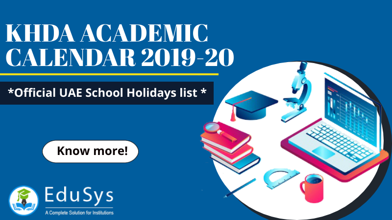 KHDA Academic Calendar 2019-20 - Official UAE School Holidays list