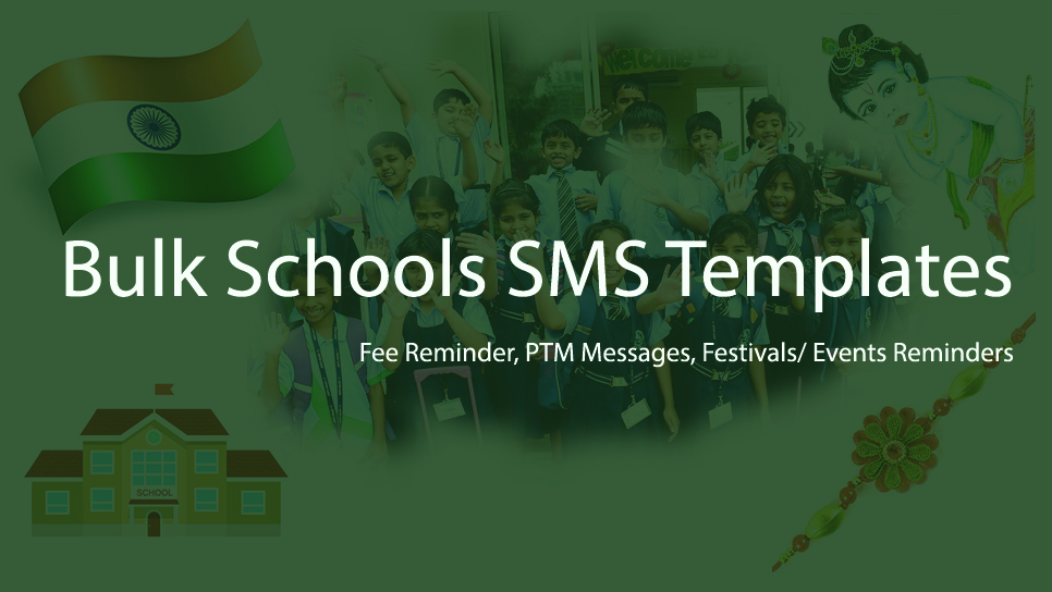 Holi & Ugadi Bulk School SMS Templates - Fee Reminder, PTM Message Parents