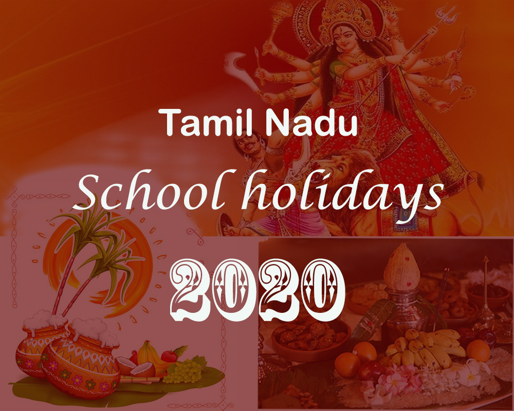TN School Holidays 2020 - Tamil Nadu Govt. Official Details