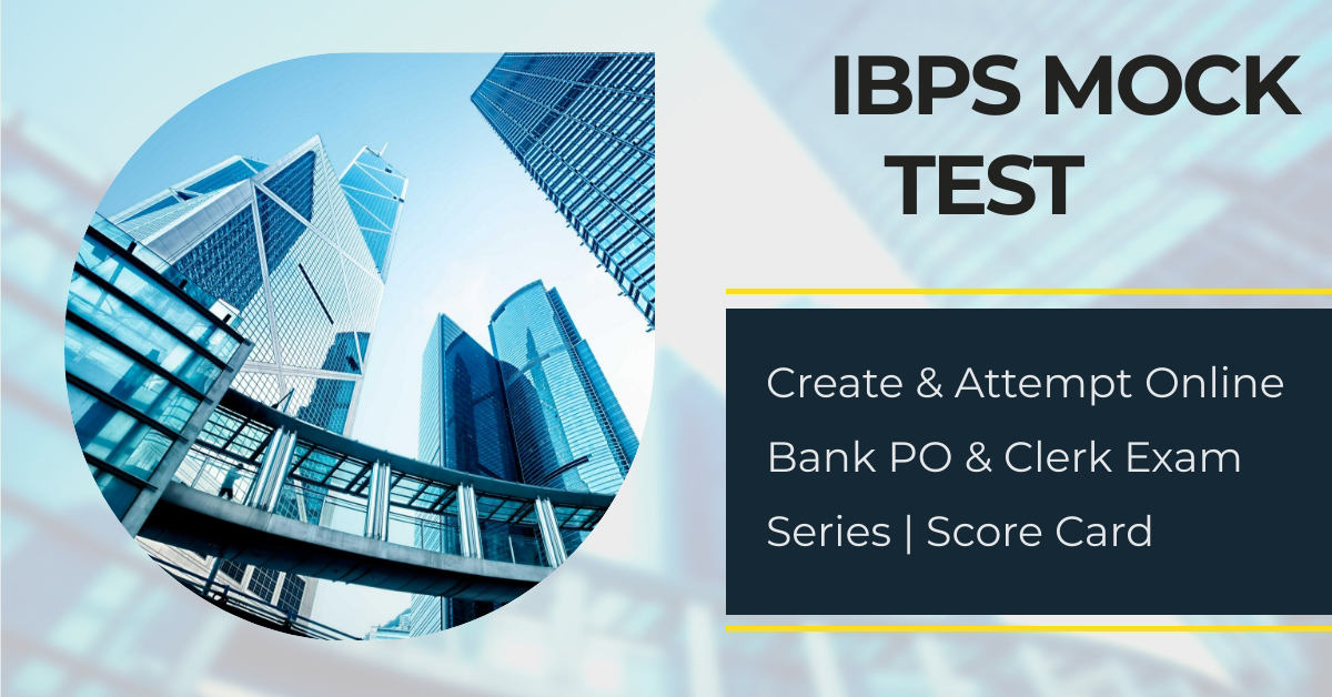 IBPS Mock Test 2020 - Create Online Bank PO & Clerk Exam Series | Score Card