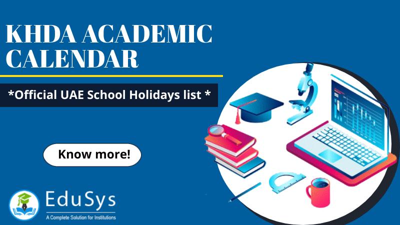 KHDA Academic Calendar 2020-21 - Official UAE School Holidays list