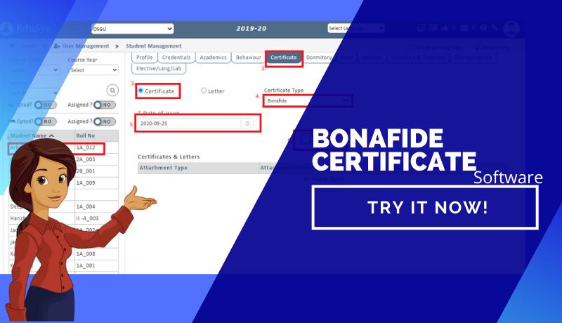 Bonafide Certificate - How To Generate Bonafide Certificate Online?