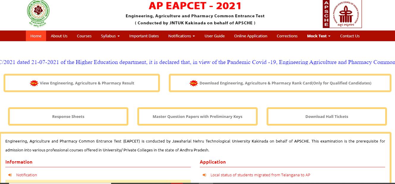 Govt. AP-Eamcet 2021 - 1st & 2nd Counselling dates, documents list details