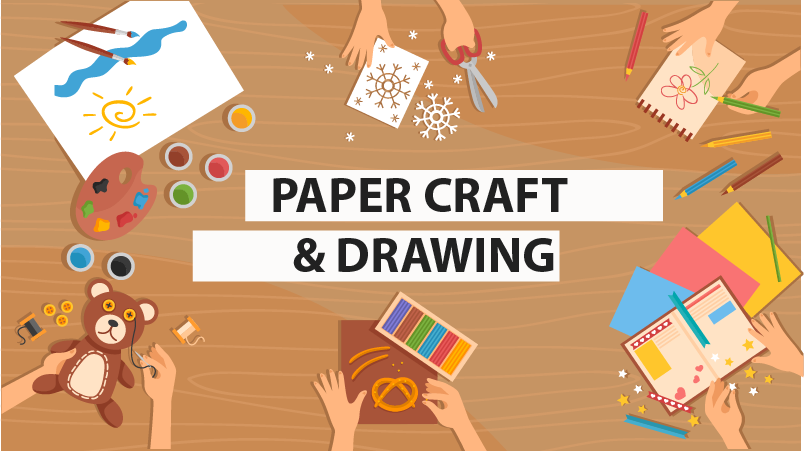 Paper Craft and Drawing Img