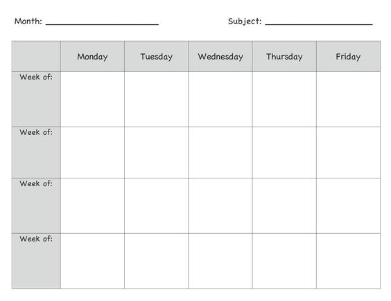Preschool Lesson Plan Template 2020 Daily Weekly Monthly