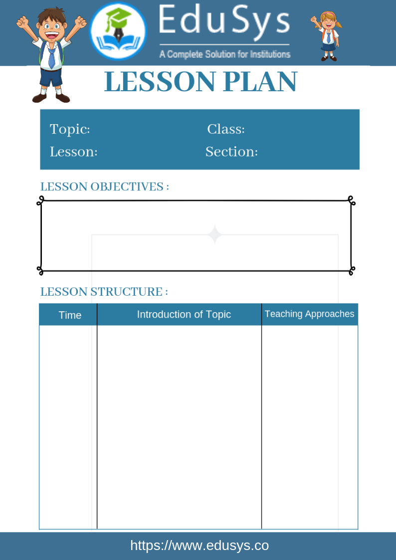 Teacher lesson planner sample template 2