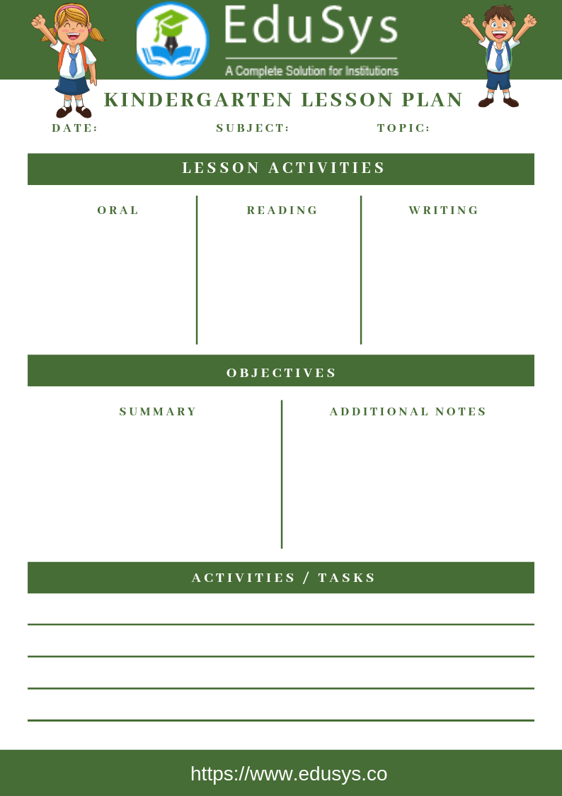 Teacher lesson planner sample template 5